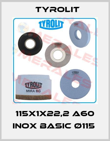 Tyrolit-115X1X22,2 A60 INOX BASIC Ø115  price