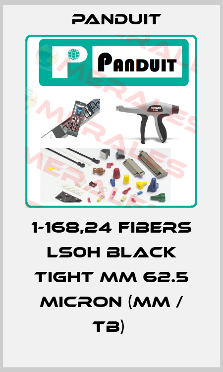 Panduit-1-168,24 FIBERS LS0H BLACK TIGHT MM 62.5 MICRON (MM / TB)  price