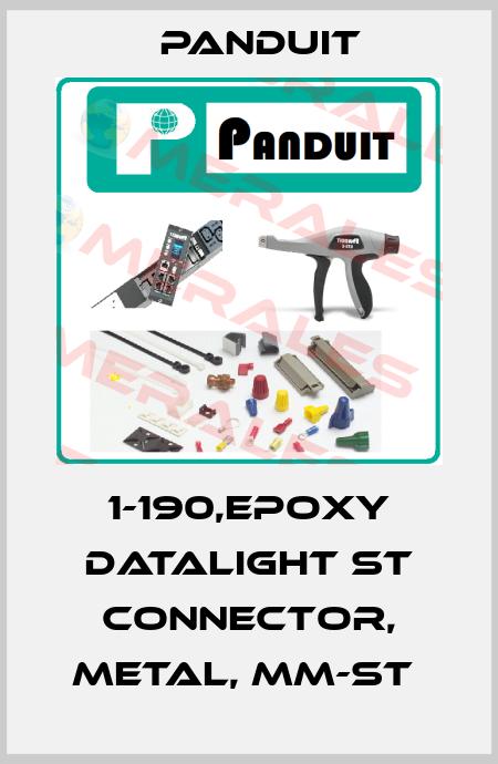 Panduit-1-190,EPOXY DATALIGHT ST CONNECTOR, METAL, MM-ST  price