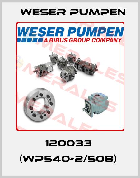 Weser Pumpen-120033  (WP540-2/508)  price