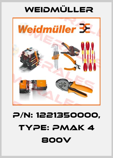 Weidmüller-1221350000 PMAK 4 800V  price